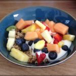 Nut Granola with Yogurt and Fruit Mix