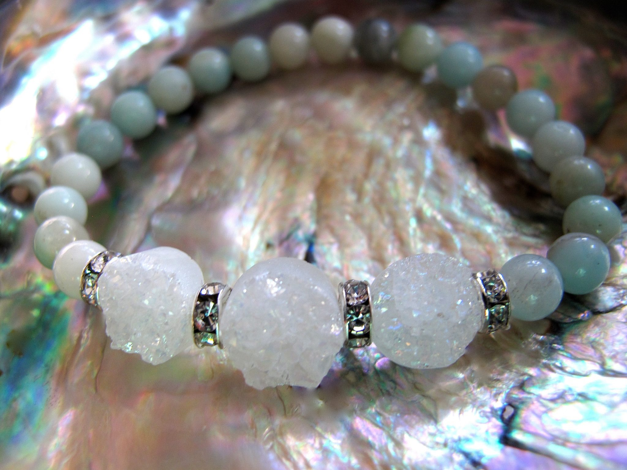 Multi coloured amazonite bracelet